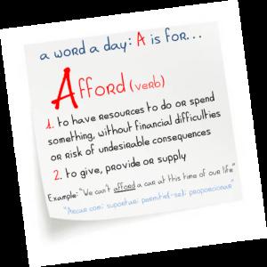a word a day - afford
