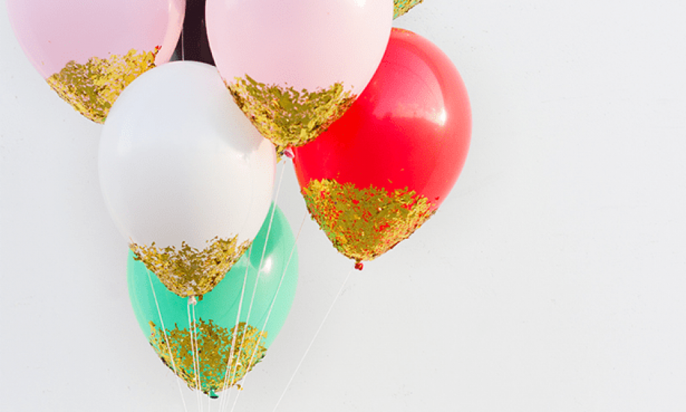 2-year-anniversary-party-balloons-confetti-gold-glitter